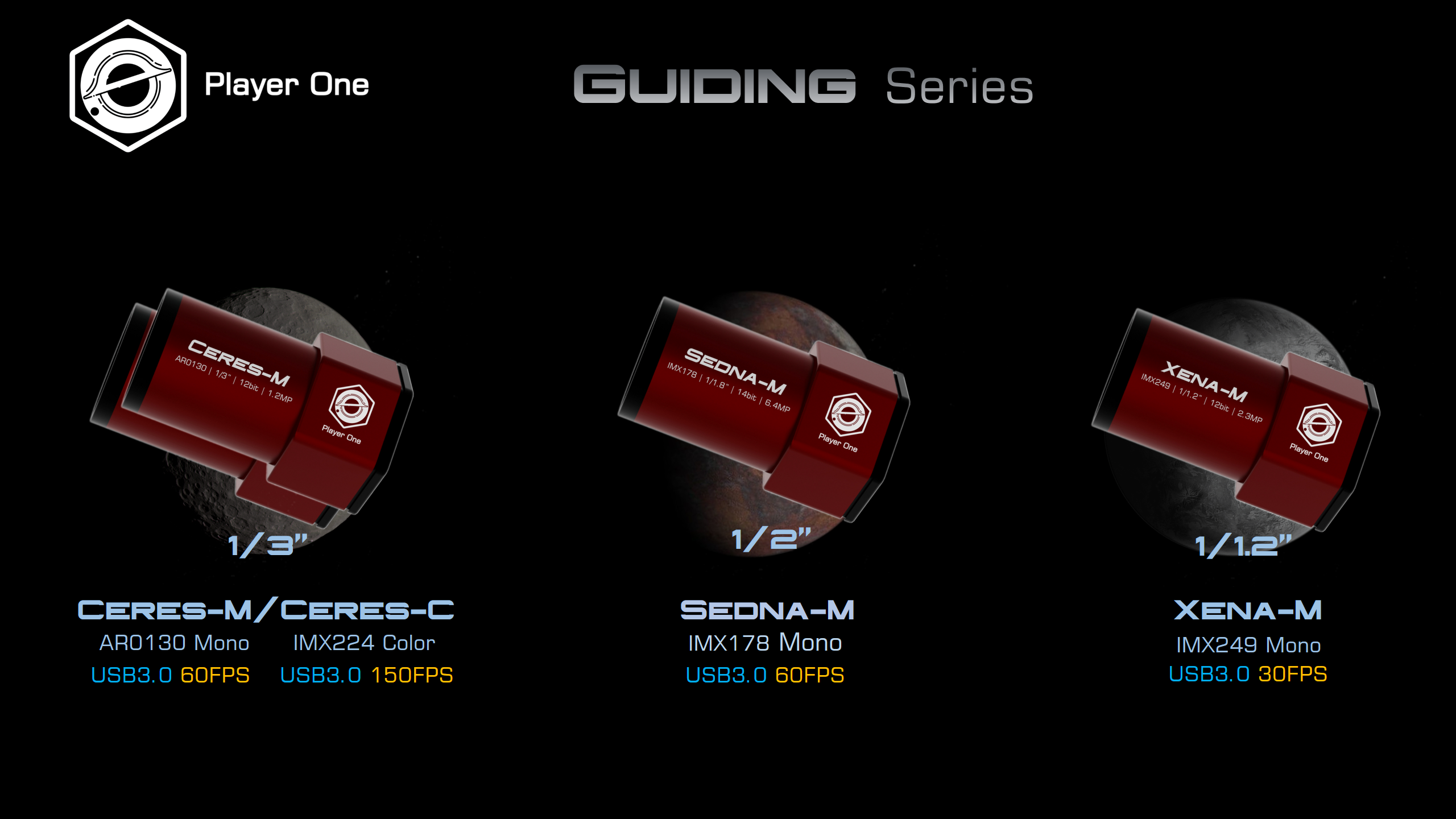 Guiding camera series (AKA Dwarf Planet Series) released TODAY!