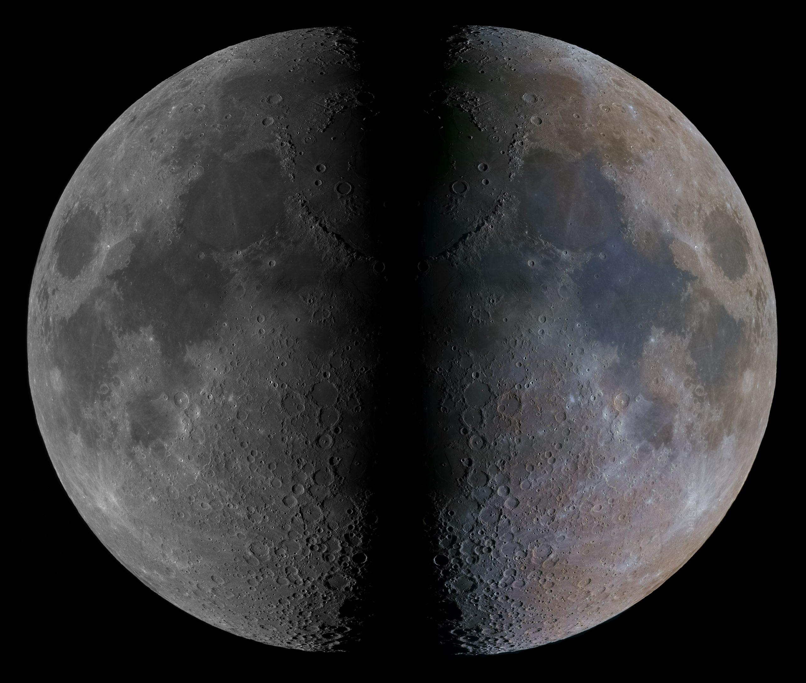 Lunar mosaic is more efficient