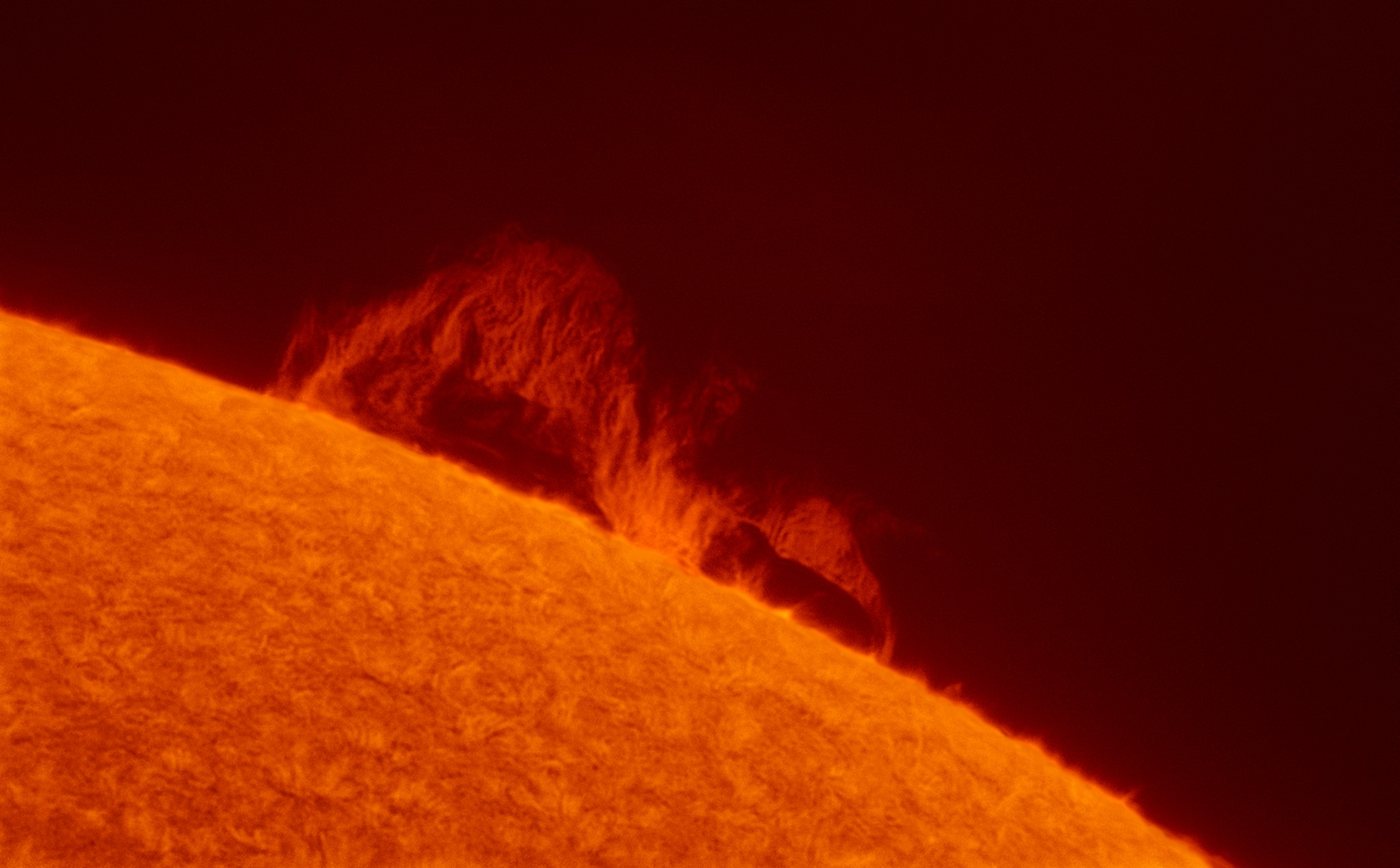 Prominence by Gary Palmer with Neptune-M camera