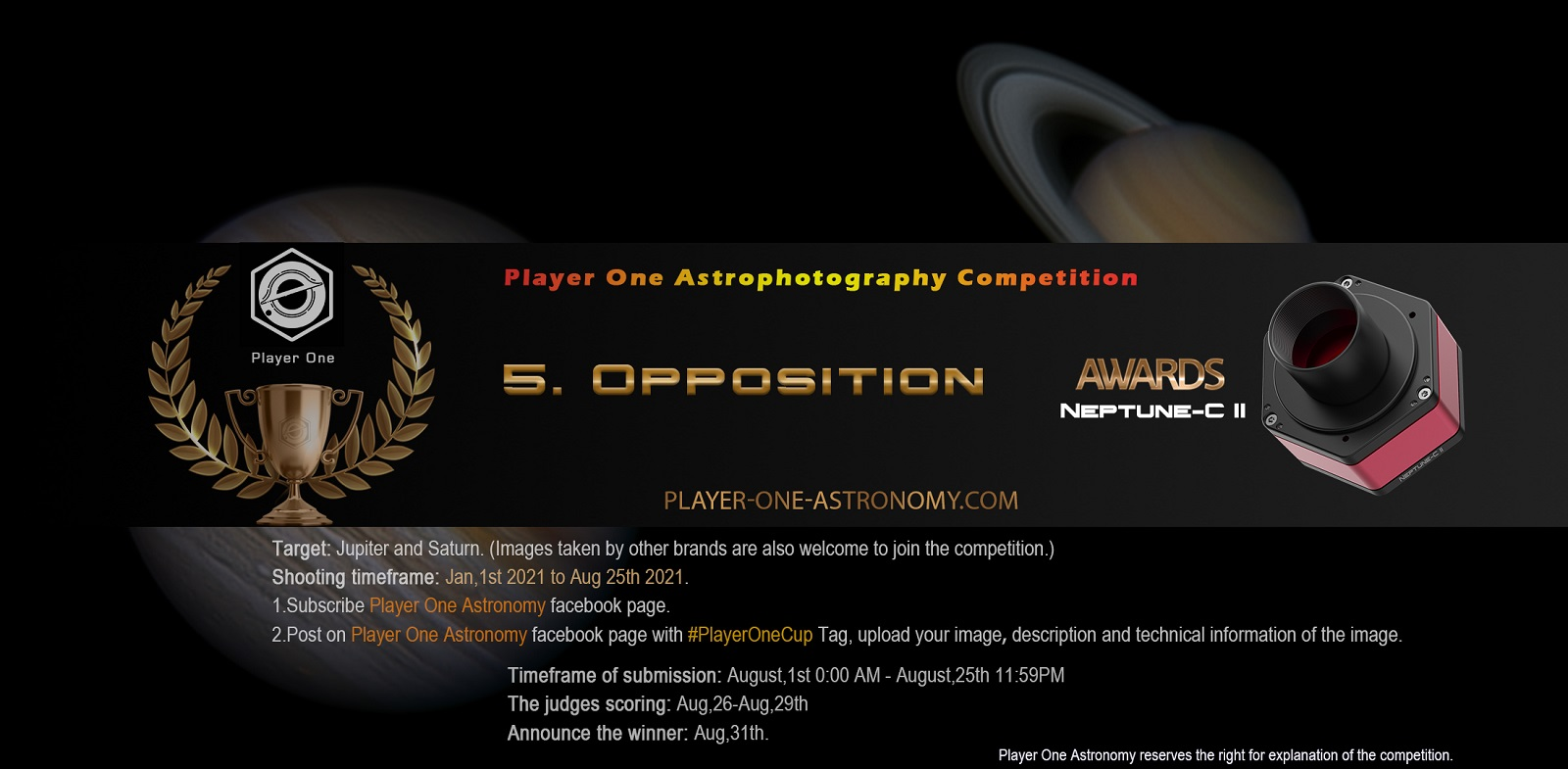 August: Round 5 of Player One Astrophotography Competition : Opposition